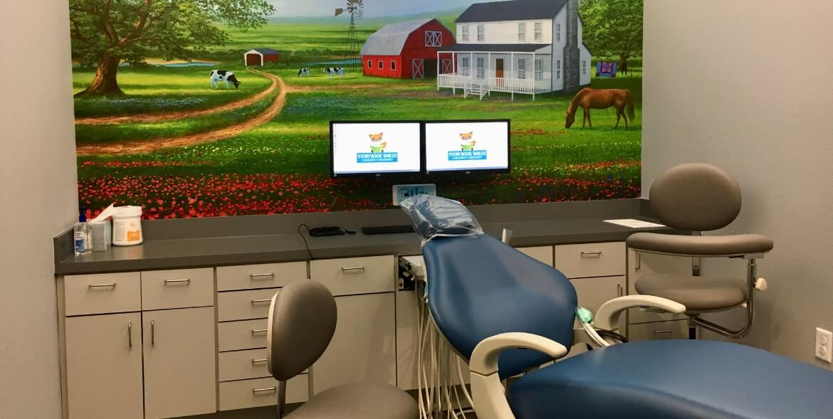 Farm theme exam room