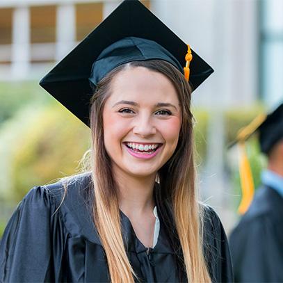 Teen smiling at graduation