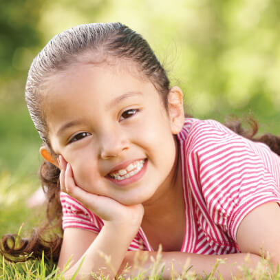 Girl smiling for photo