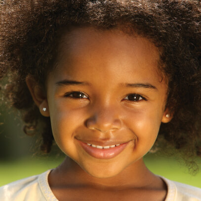 Girl smiling for portrait