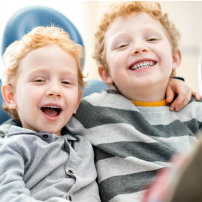 Young brothers laughing