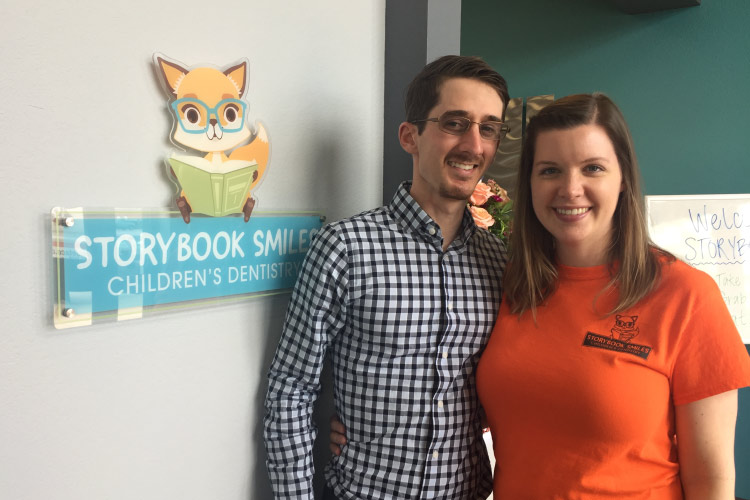 Our pediatric dentist, Dr. Dylan Patrick and his wife, Kimberly, our Patient Care Coordinator